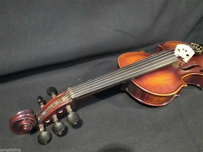 Hand made solid wood song brand unfinished violin, whtie violin 4/4 #11403