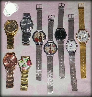Lot of watches men and women stainless steel, handmade and others.