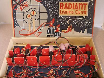 Vintage Radiant Lighting Outfit Christmas original box - WORKS Indoor Outdoor