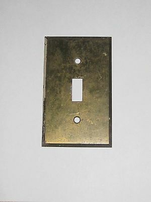 2- Vintage Solid Brass Single Switch Cover Plates .040 Thick Natural Petunia
