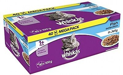 Whiskas 1+ Years Cat Pouches Fish Selection in Jelly^ 40 x 100 g