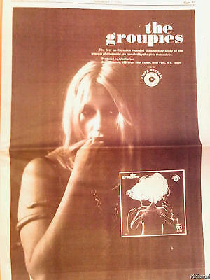 1969 Los Angeles Free Press Groupies Rolling Stones Crosby Stills Nash & Young