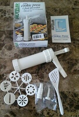 Vintage hutzler petite cookie press and food decorator fast shipping!