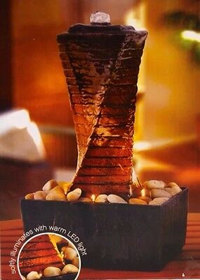 NEW Wayland twisting Tower Stone Rock Water Fountain Tranquility Free Shipping