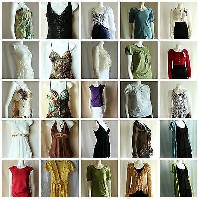 Lot of 50 pcs Assorted New Womens Juniors Tops Clothing Mixed Sizes Liquidation