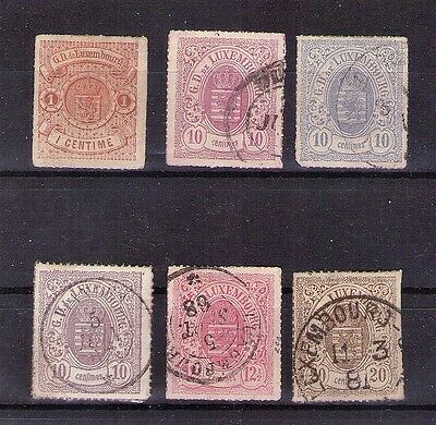 Luxembourg - Early Stamps Rouletted In Color - Used