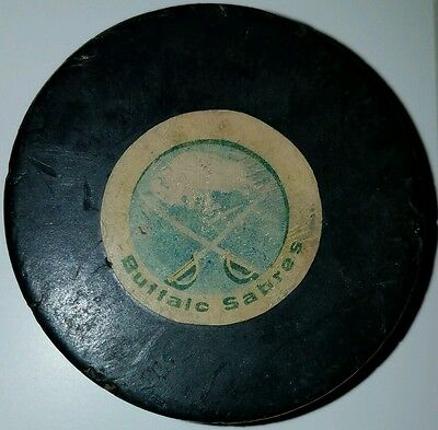 Vintage 70s Official ART ROSS Converse BUFFALO SABRES GAME USED Puck
