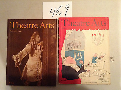 Lot Of 12  Vintage Theatre Arts Magazines,  1945 To 1947 V/g+ Cond.