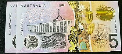2016 New $5.00 FIRST AND LAST PREFIX uncirulated