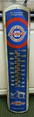 "Vintage 60's-70's Chevrolet Dealership metal Thermometer 38 3/4"" Length!!"
