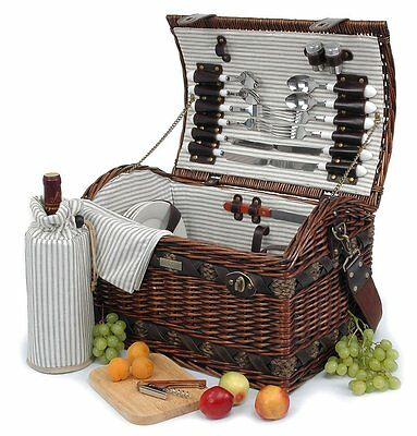 Willow Picnic Basket for 4  PB1-3383A 32pcs