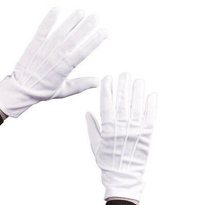 Santa White Gloves Fitted Snap Closure Costume Christmas Mime Dance 21cm