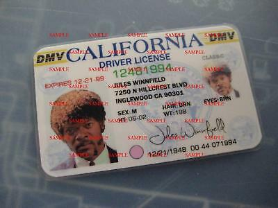 Pulp Fiction - Jules Winnfield License - Prop - Cosplay - Novely - B3G1F