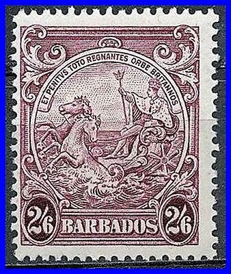 Barbados 1938 Badge Of The Colony 2/6 Fresh Sc# 201 Mnh (D0344)