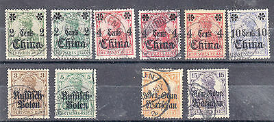 German stamps with over-prints