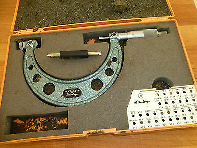 Mitutoyo Screw thread  Micrometer 3 - 4 inch - 126-140 Made In Japan