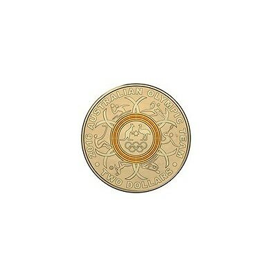2016 Olympic $2 coin GOLD YELLOW -