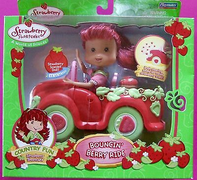 STRAWBERRY SHORTCAKE DOLL Bouncin' Berry Ride inc Scented doll & strawberry car!