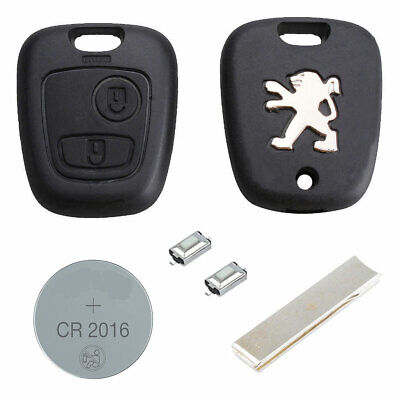 Peugeot DIY Repair Kit 2 Button Remote Car Key Fob Case HU83 Blade 107 207 307