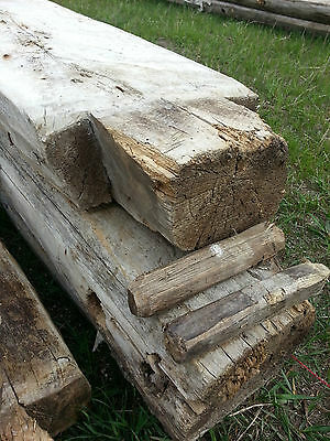 Antique Log Cabin Beams 1800's - Hand Hewn cottonwood -dismantled-not numbered