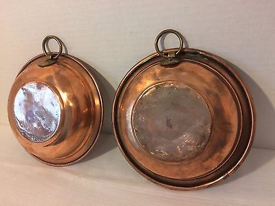 Vintage Decorative Solid Copper Wall Hanging Country Kitchen 2 pc