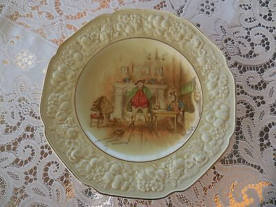 Crown Ducal Florentine Plate - Sam Weller Composes His Valentine
