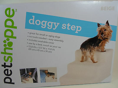 Three 3 Step Dog Cat Pet Stairs Soft Covered Staircase Doggy Steps Indoor  New B