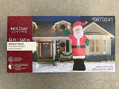 Holiday Living Gemmy 12Ft Santa Clause Inflatable Brand New Airblown Lights Up