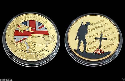 ww1 gold plated commemorative coin