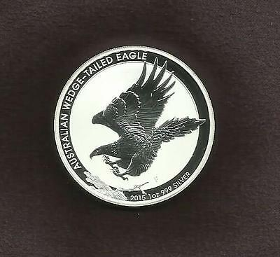 1oz SILVER 999 COIN - WEDGE-TAIL EAGLE 2015