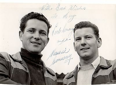 Signed Speedway Photo. Noel & Maurie Conway (Swindon)