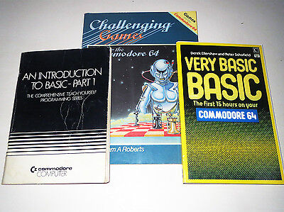 Commodore 64 books - Very Basic, Challenging Games, C64 intro to BASIC pt.1
