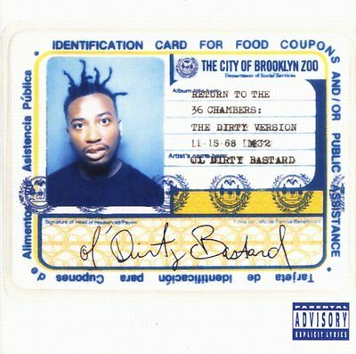 Ol Dirty Bastard - Return To The 36 Chambers 2x 180g vinyl LP NEW/SEALED Wu Tang