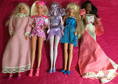 Mixed Lot of 5  Barbies: previously played with lot #C40