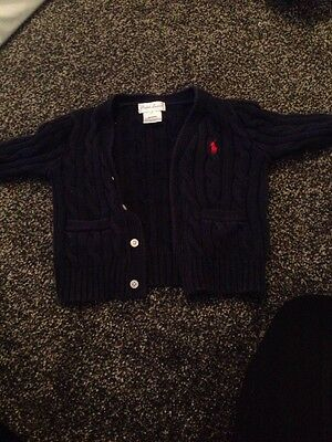 Ralph Lauren Cable Knit Baby Cardigan