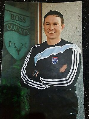 Hand Signed Derek Afams Football Photo Ross County