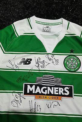 Hand Signed Celtic Football Shirt Toure Tierney Lustig Sinclair Griffths + More