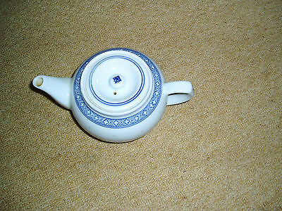 Blue and white small Chinese tea pot (some Chinese markings on bottom)