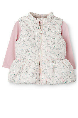 Sprout Baby Girl Puffer Vest and Tee Set BNWT Size 1