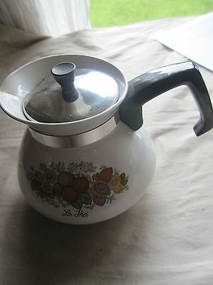 Vintage Corning Ware Teapot & Infuser P 1068 Le The