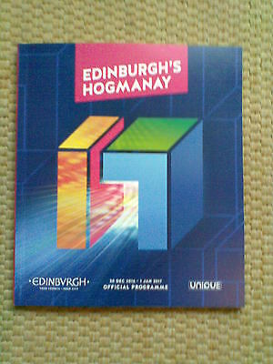 New 82 Page Official Colour Programme Edinburgh's Hogmanay New Year 2016 - 2017