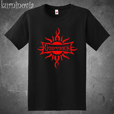 Godsmack Metal Rock Band Logo Men's Black T-Shirt Size S to 3XL