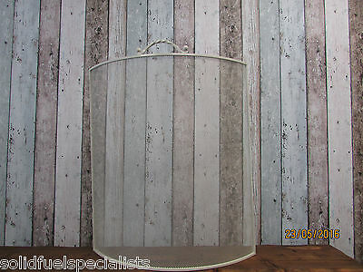 Cream Shabby Chic Style Curved Fire Screens For Stoves & Open Fires