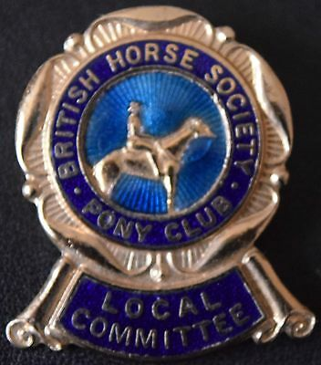 Vintage Pin Badge British Horse Society Pony Club Local Committee