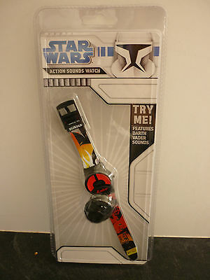 Star Wars Action Sounds Watch - Collectible - Darth Vader - New In Packet