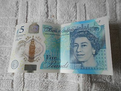 new five pound note  AA44