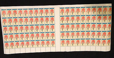 Very Rare Not Folded Full Sheets 100 MNH 1978 Illawara Flame 18c stamps
