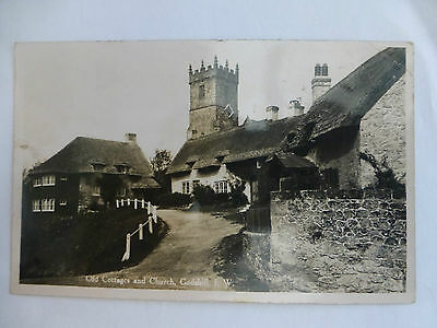Godshill Old Cottages & Church - Old Isle of Wight Postcard