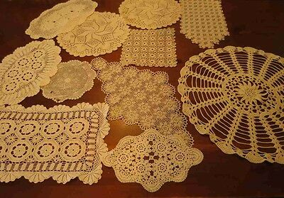 Bulk Lot of 11 Doilies For Home Or Craft