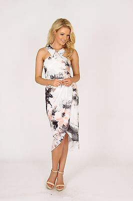 New Ladies Size 10 3RD LOVE White Black Apricot Races After 5 Formal Xmas Dress